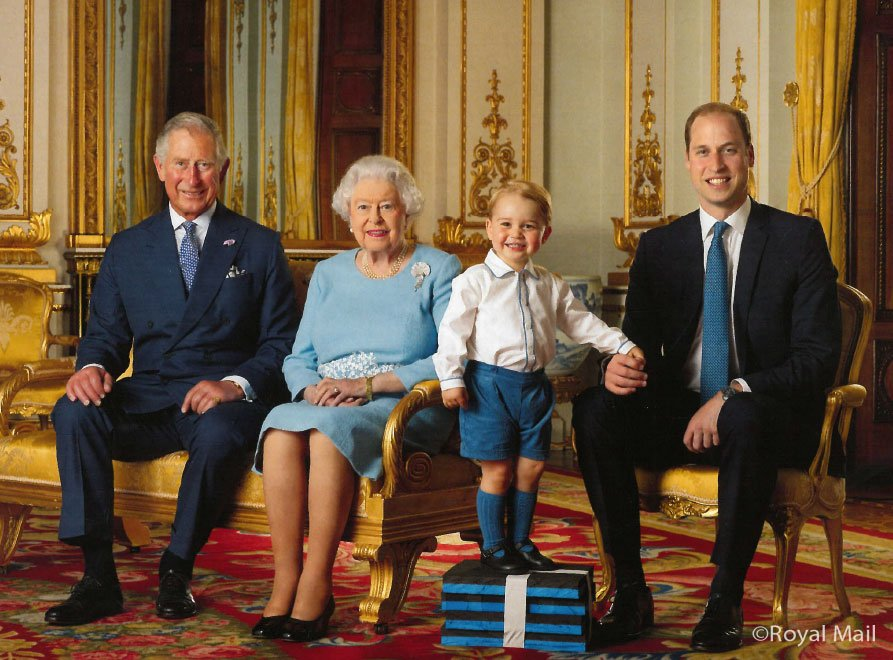 .@RoyalMail celebrates #Queenat90 with a specially commissioned Stamp Sheet of 4 generations of the Royal Family https://t.co/ypzbjdB6T1