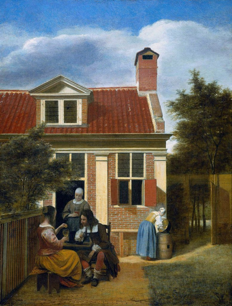Wishing you a pleasant afternoon ...  'Company in the Garden' Pieter de Hooch, 1664 #art https://t.co/GJVYlI9lGr