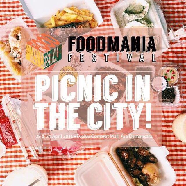Jom pergi #FoodManiaFest weekend ni. Kita picnic sambil makan dan tengok performance