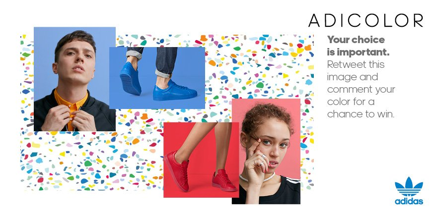 Last chance to RT & tell us your favourite colour to win a pair of #adidasOriginals #adiColours! https://t.co/1KYnvFJr2U