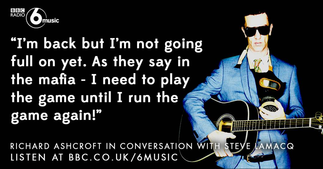 Hear @richardashcroft's truly honest and in-depth conversation with Lamacq on tonight's programme on @BBC6Music... https://t.co/VyTxkABIHE