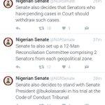 #CCTvsSaraki : Senate also decides to stand with Saraki in his trial at the CCT -Senate???????????? Hmmm.... https://t.co/Ho8KBuWEm7