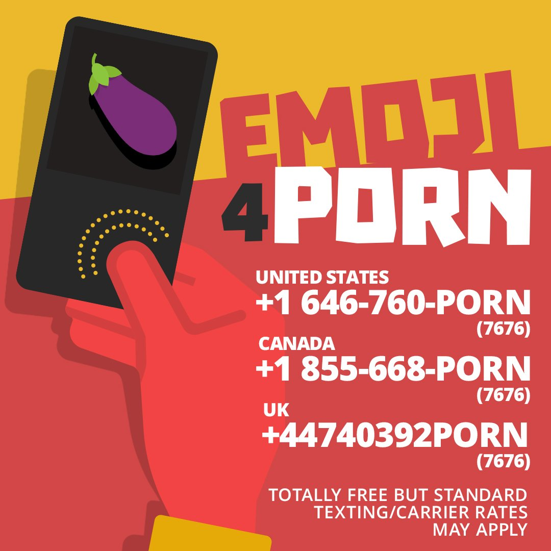 Text an emoji and get free porn straight to your phone. Easy peasy. #pornhubemojis https://t.co/3ZjW3Y2309