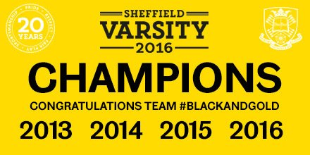 Varsity CHAMPIONS!! So proud - Team #BlackandGold bringing home the trophy for the 4th consecutive year!! #SUVarsity https://t.co/SOusSkeUgh
