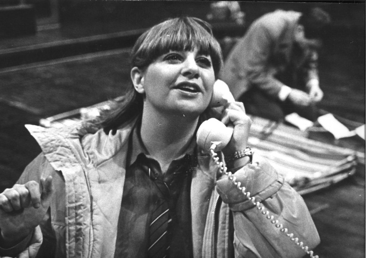 Victoria Wood pictured here in Good Fun in 1980. A truly remarkable comedian who will be much missed. https://t.co/x4j60pVOaX