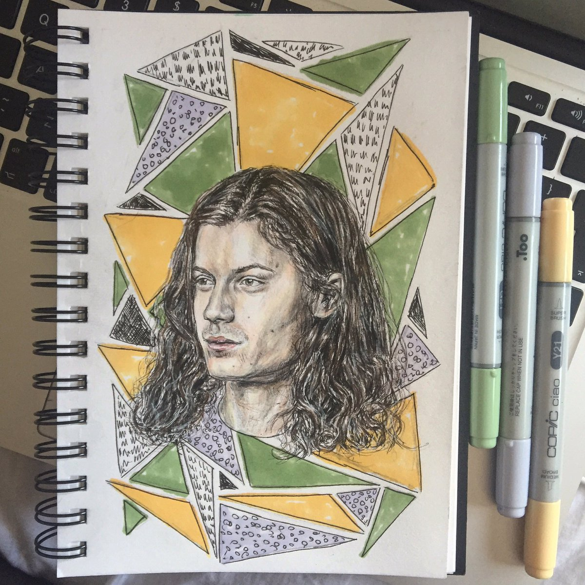 obsessed w/ @bornsmusic right now so had to do some art  somewhat resembles harry styles though, i did not want this https://t.co/VO6UQzZhgU
