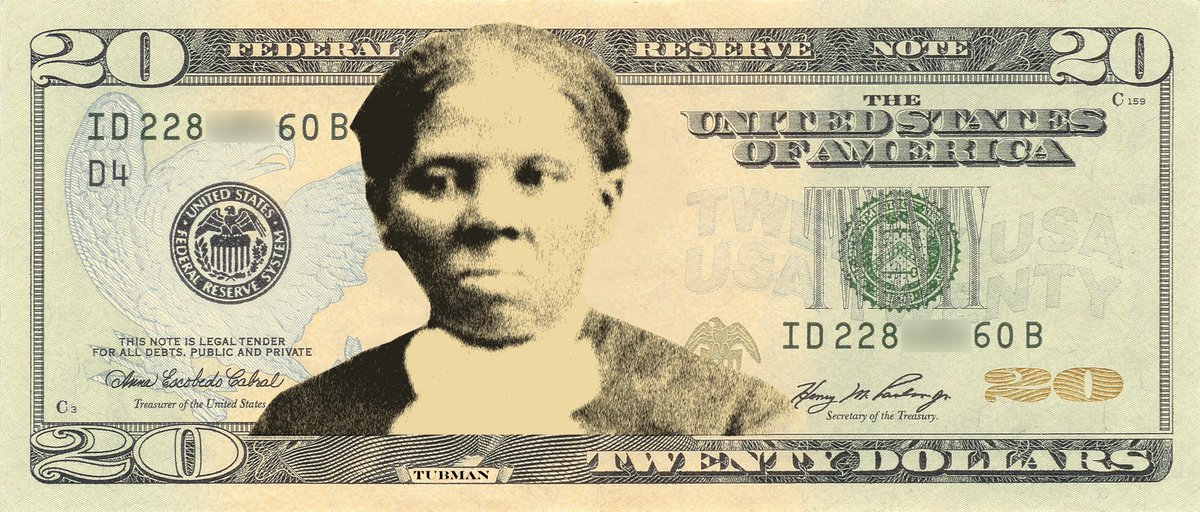A recipient of an only $20 monthly pension, in a long delayed tribute, #HarrietTubman will now grace the $20 bill. https://t.co/Da2iscRQER