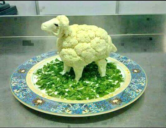 How to confuse a vegetarian.