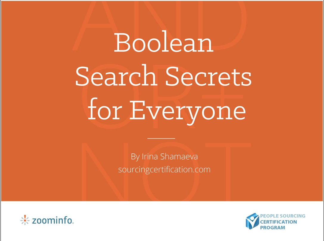 A rare chance to attend a free Boolean search webinar tomorrow. Seating is unlimited. :) https://t.co/P3ItbV8tO7 https://t.co/SkRoNEcuZh