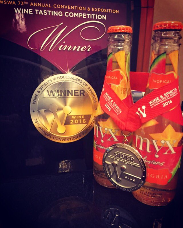 RT @MYXFusions: MYX Tropical Sangria has won the Silver Medal in @WSWAConvention's Wine Tasting Competition!!???????????? #SummerOfSangria https://t…