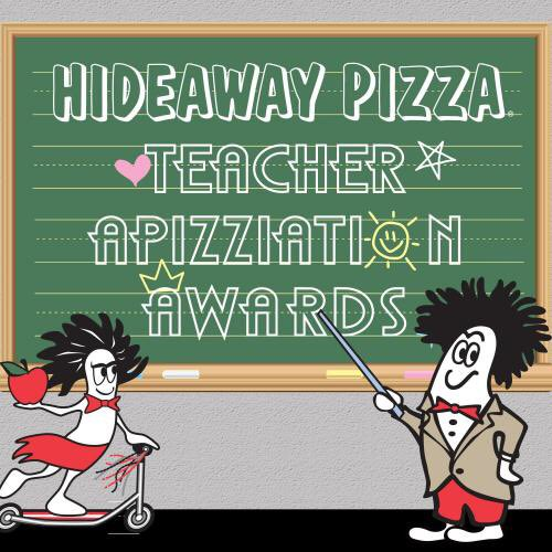 Forget apples - give your teacher FREE pizza for a year! Nomination form & info here: https://t.co/KZjDQDwc9k https://t.co/R29ldowJJ6