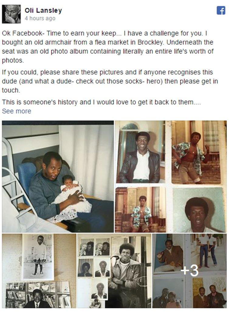 Help Oli track down his Brockley mystery man https://t.co/u9H9mMansS https://t.co/G6fzVmpBJJ