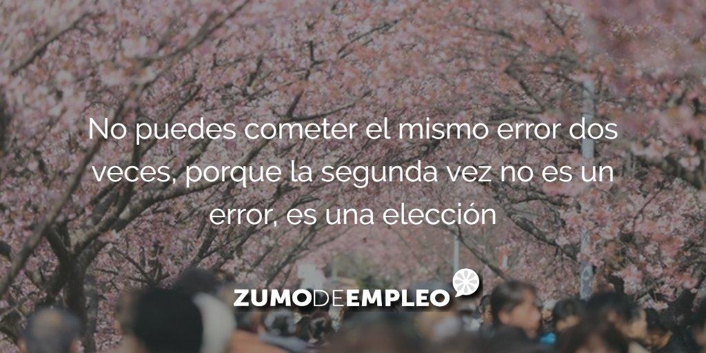 No puedes cometer el mismo error dos veces, porque la segunda vez no es un error, es una elección #ZdECitas https://t.co/siDJ5ITqzJ