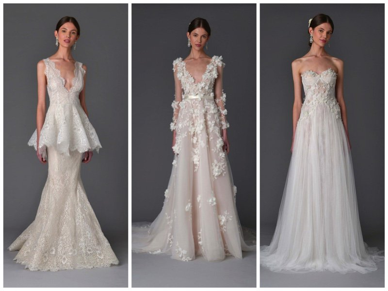 marchesafashion #bridal does diaphanous gowns for spring 2017 ...