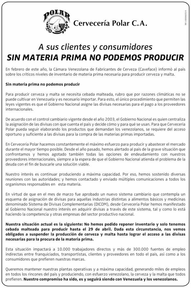 SIN MATERIA PRIMA NO PODEMOS PRODUCIR https://t.co/uHASGtEYvc https://t.co/YCNvu2CWxn