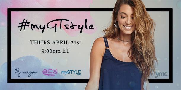 The #myGTstyle Twitter Party is tonight at 9pm ET! No RSVP, but plenty of fashion, fun and prizes! See you there