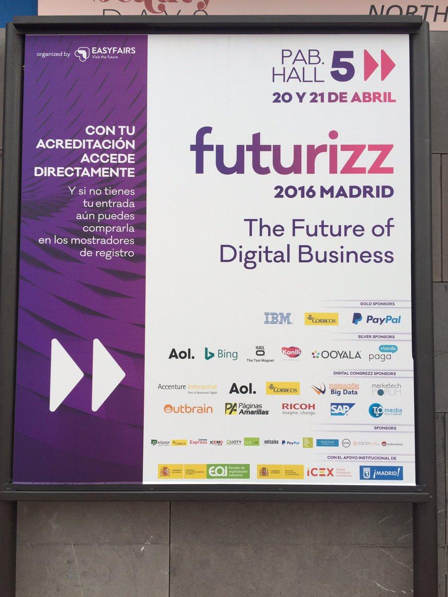 ¡Buenos días! Todo preparado para empezar la segunda jornada de #futurizz. ¡Te esperamos! https://t.co/ij6siG5IXP