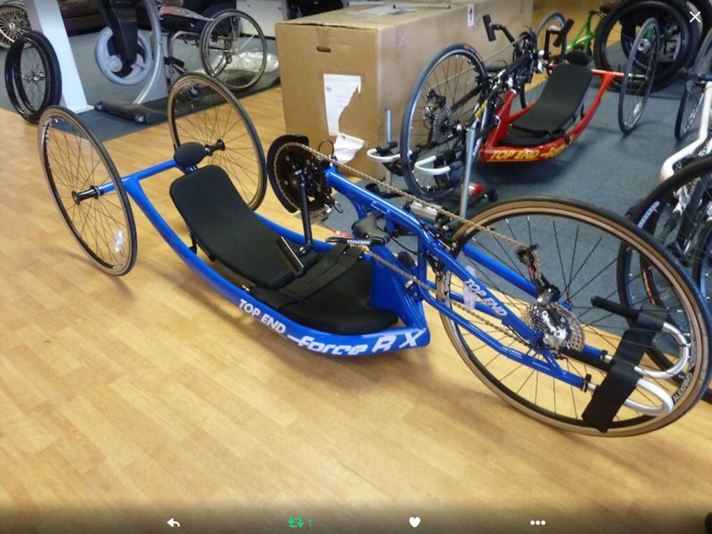 If anyone try's to sell you this Handbike please tell the police.It was stolen from @timfarrski #getTimhisbikeback
