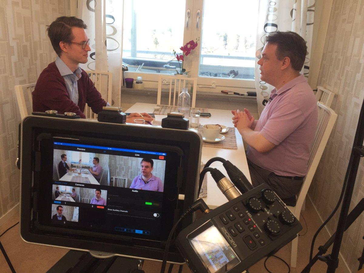 Idag är @Internetmuseet och intervjuar @rickfalkvinge om hur #piratpartiet startade! https://t.co/yaQGU5CXnM