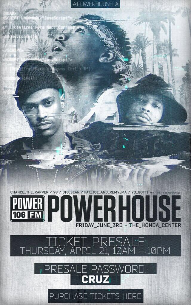 The #powerhouseLA presale is TODAY at 10am! Info: https://t.co/v5Gc0bvQ7y @POWER106LA https://t.co/JNuMVDSKGc