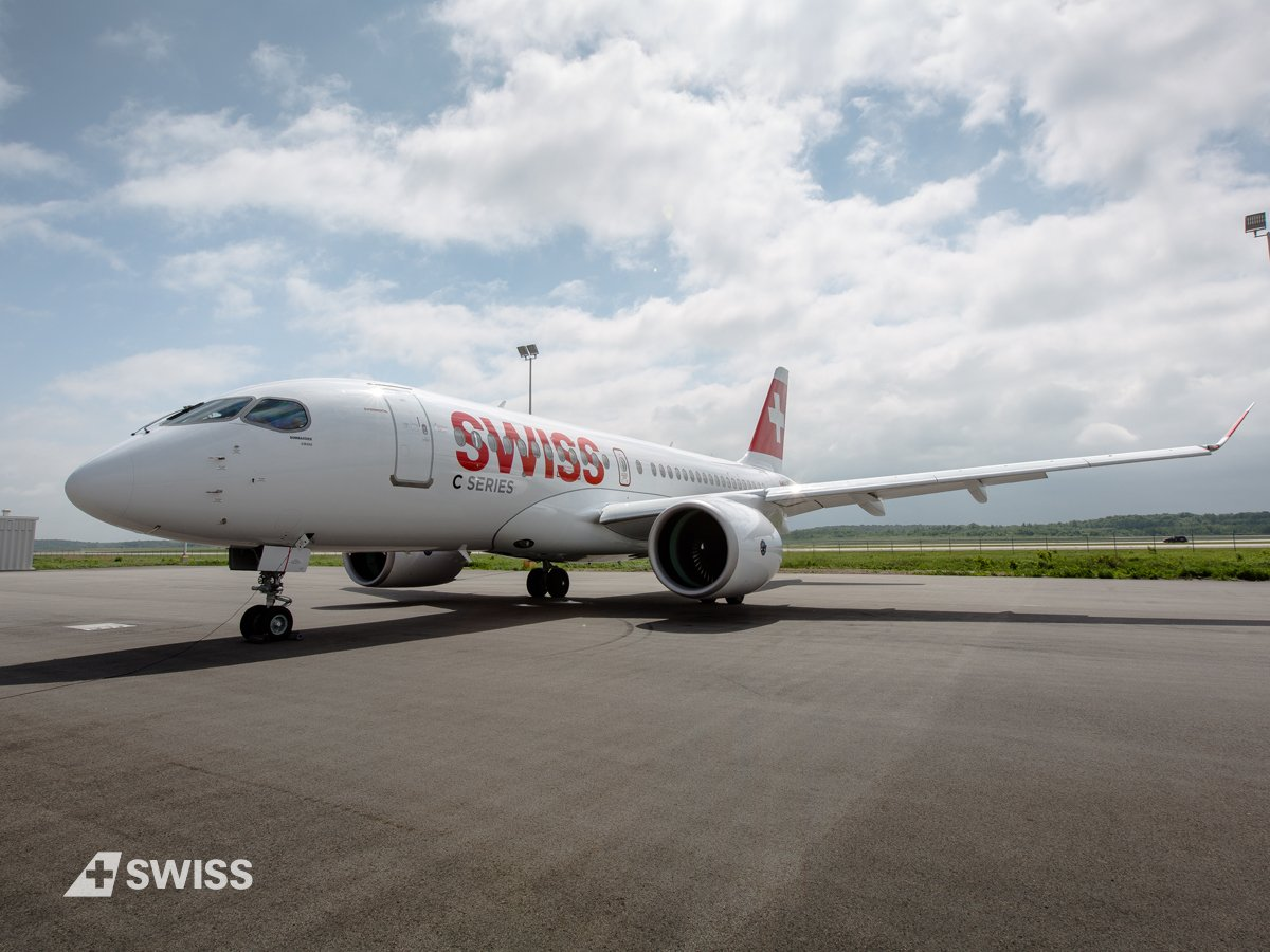 On July 15 at 12:30 pm our new Bombardier CS100 will take-off for its first commercial flight from Zurich to Paris. https://t.co/1XsrFUdgtP