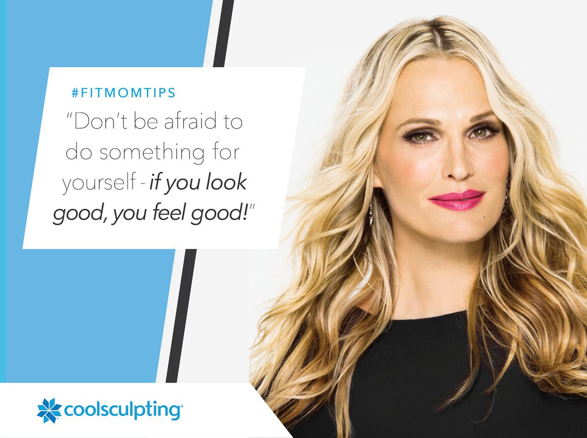 """""""Don't be afraid to do something for yourself...if you look good, you feel good!"""" #MollySims #FitMomTips https://t.co/nZQssYh9VE"""
