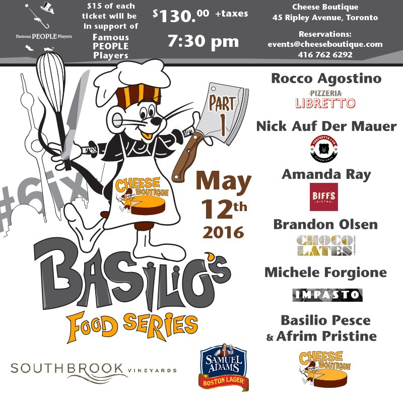 BASILIO's FOOD SERIES - Part 1 - Join Us > May 12 @BasilioPesce with friends INFO: https://t.co/sQ8ibgfXpI https://t.co/vxG4GBtmgb