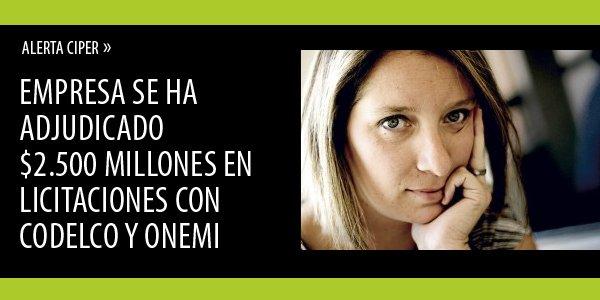 ALERTA CIPER» La asesoría de Natalia Compagnon a Raylex para obtener contratos con el Estado https://t.co/atedp4Ip8g https://t.co/69kbDAFCjG