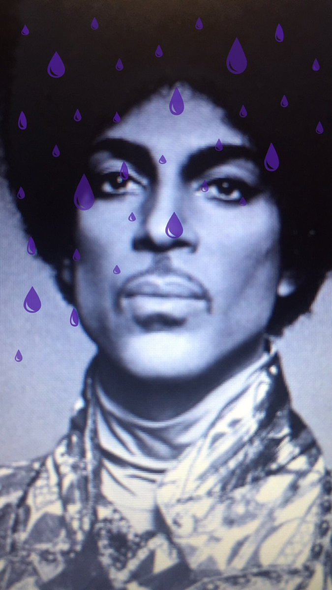 And @Snapchat has a purple rain filter. https://t.co/Ate7QQmF3K
