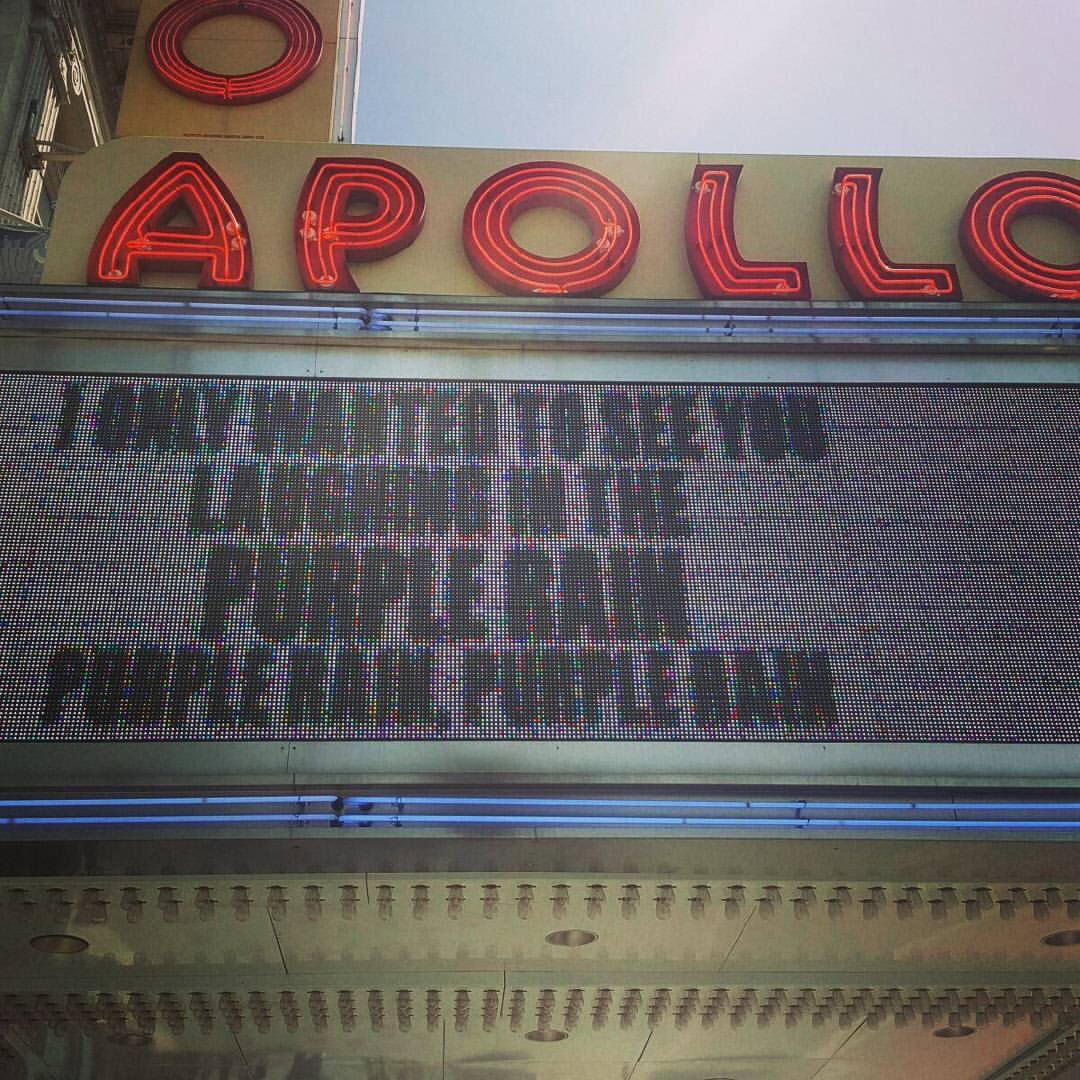 Per @Nolasugar the @ApolloTheater marquis, #RIPPrince #Prince @prince #nbc4ny https://t.co/UlwU4Wgeow