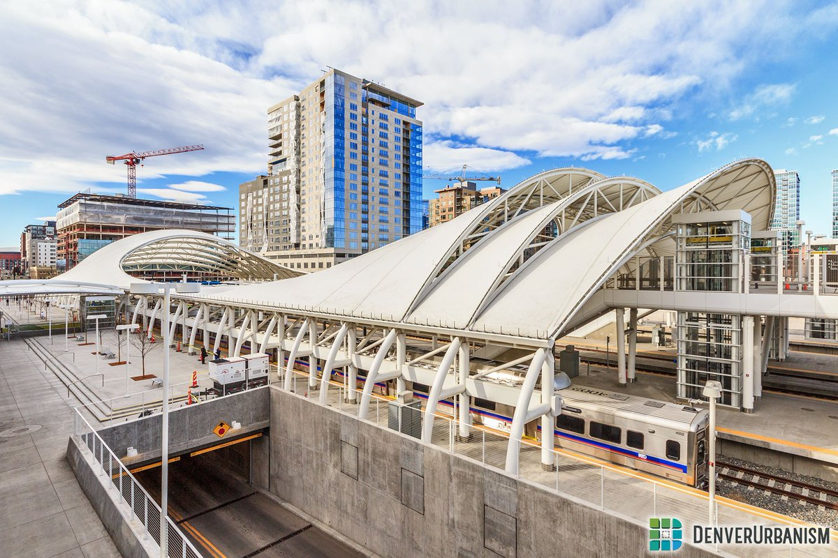 When Denver's airport train opens tomorrow, it'll begin transit service to America's 2 greatest modern train sheds. https://t.co/UTJygsnzYX