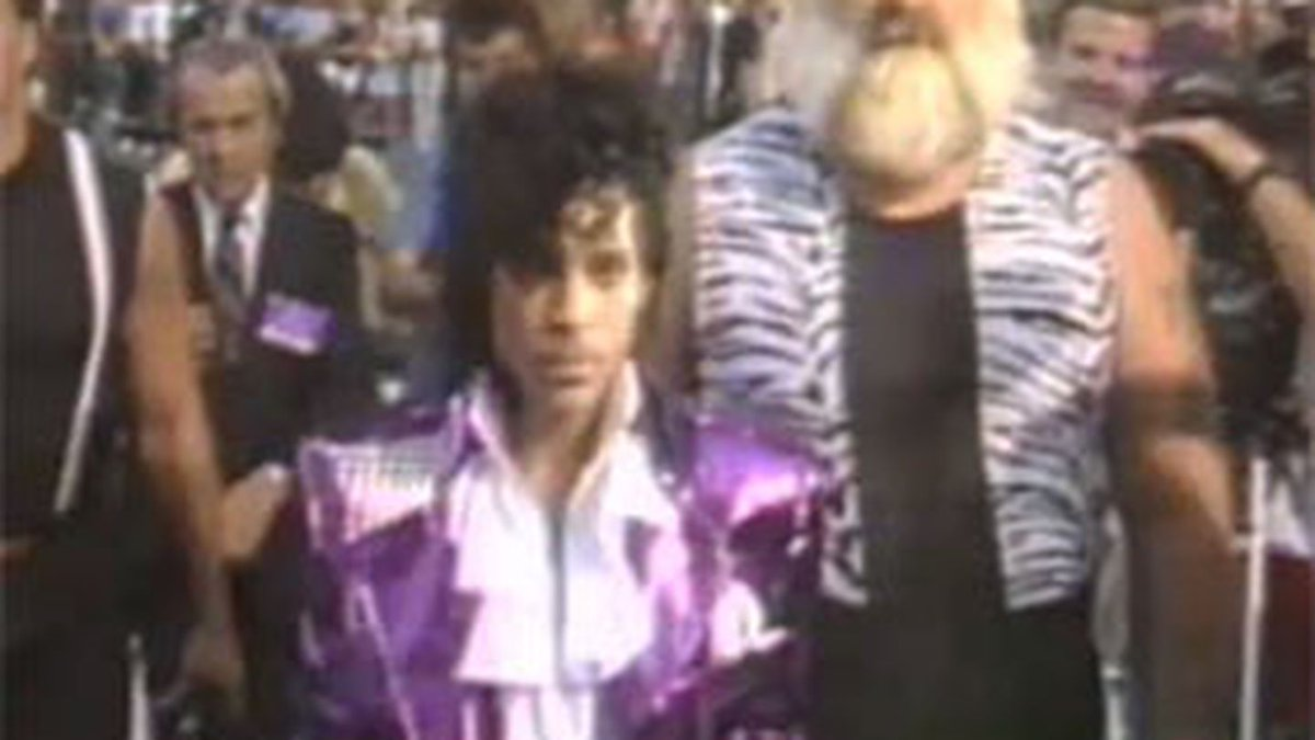 Watch Prince take over MTV for the 'Purple Rain' premiere back in