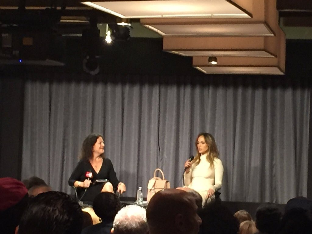 """.@JLo said @BarbraStreisand gave her best advice """"stick to parts that fit you"""" @nbcshadesofblue @sagaftraFOUND https://t.co/fCpHc7FEvh"""