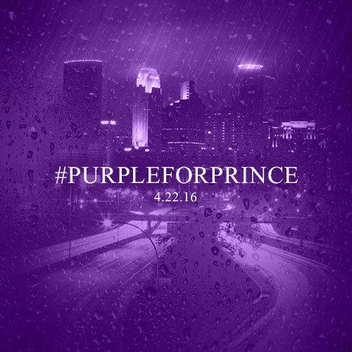 The raindrops are purple today.  Join @ks95 in wearing #PurpleForPrince tomorrow, 4/22. https://t.co/2KDHXskNpW https://t.co/JJr56TpHHT