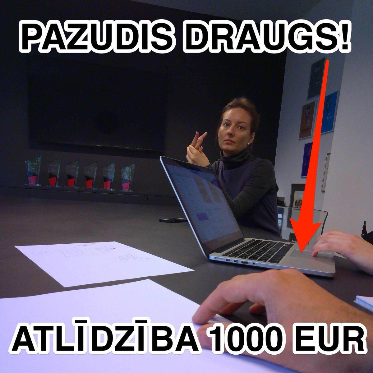 Pazaudēju MacBook Pro (iespējams, kaur kur pie RISEBA). Atradējam ANONIMITĀTE GARANTĒTA un 1000 EUR skaidrā naudā. https://t.co/rdkTJOfJda