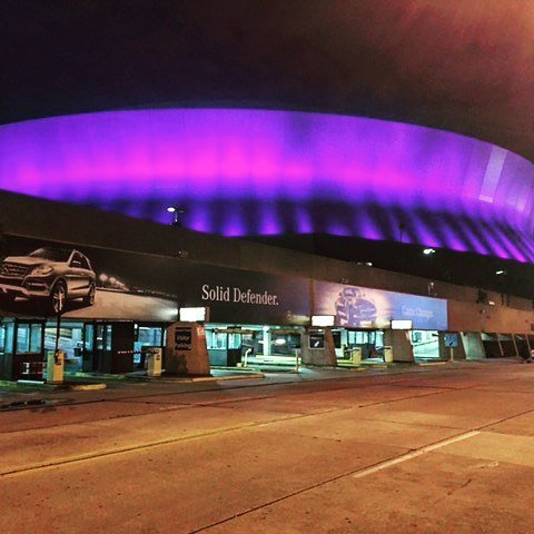 Rest in peace Prince! This is what the @MBSuperdome looks like tonight. #Rip #prince #purp… https://t.co/dR5ZV60810 https://t.co/I5OYwzjmGr