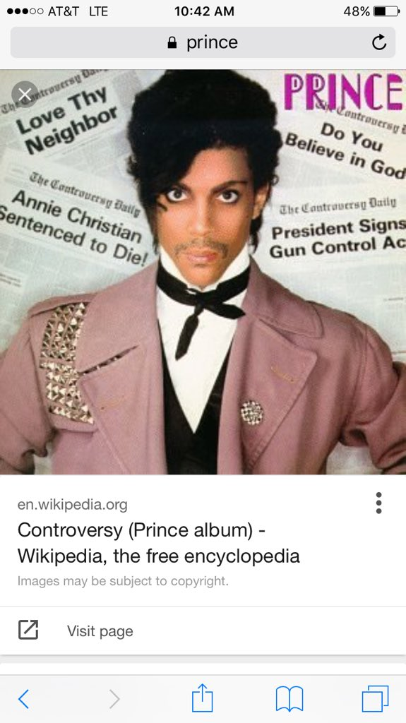 I remember the first time I actually met prince he did a private show for me and @LA_Reid and I played on stagew him https://t.co/z6siYAbVZP