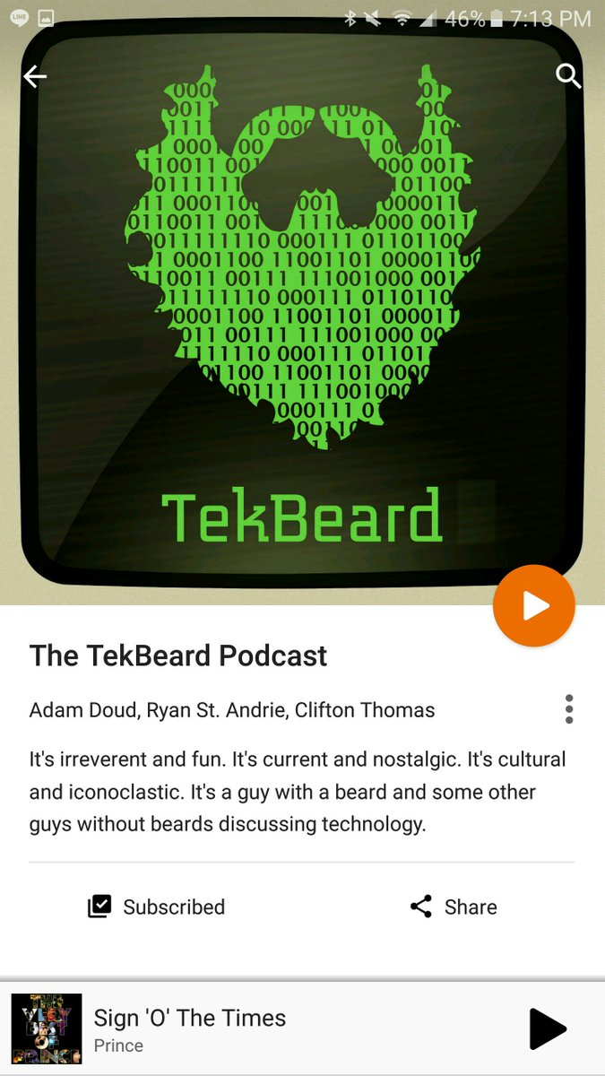 And the @TekBeard podcast is officially available on Google Play now! https://t.co/1eSCiXNjCq