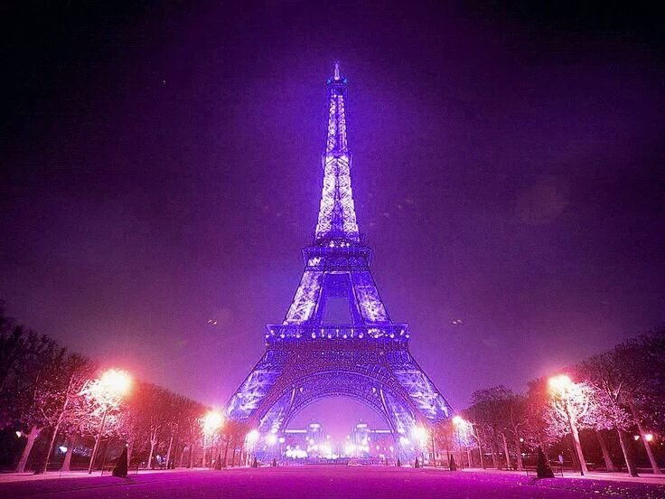 The world is purple tonight. https://t.co/POFYilCSEV