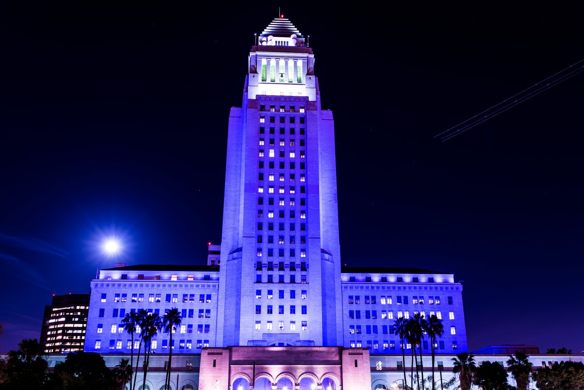 We lit City Hall purple to pay respect to a legend. #PrinceRIP https://t.co/W5fU5A2xqT
