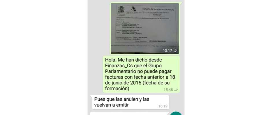 EXCLUSIVA NUEVOS DATOS El delegado de C's Murcia ordenó anular facturas y volverlas a emitir https://t.co/bRdSLJRlfd https://t.co/DaUfiGxRXB