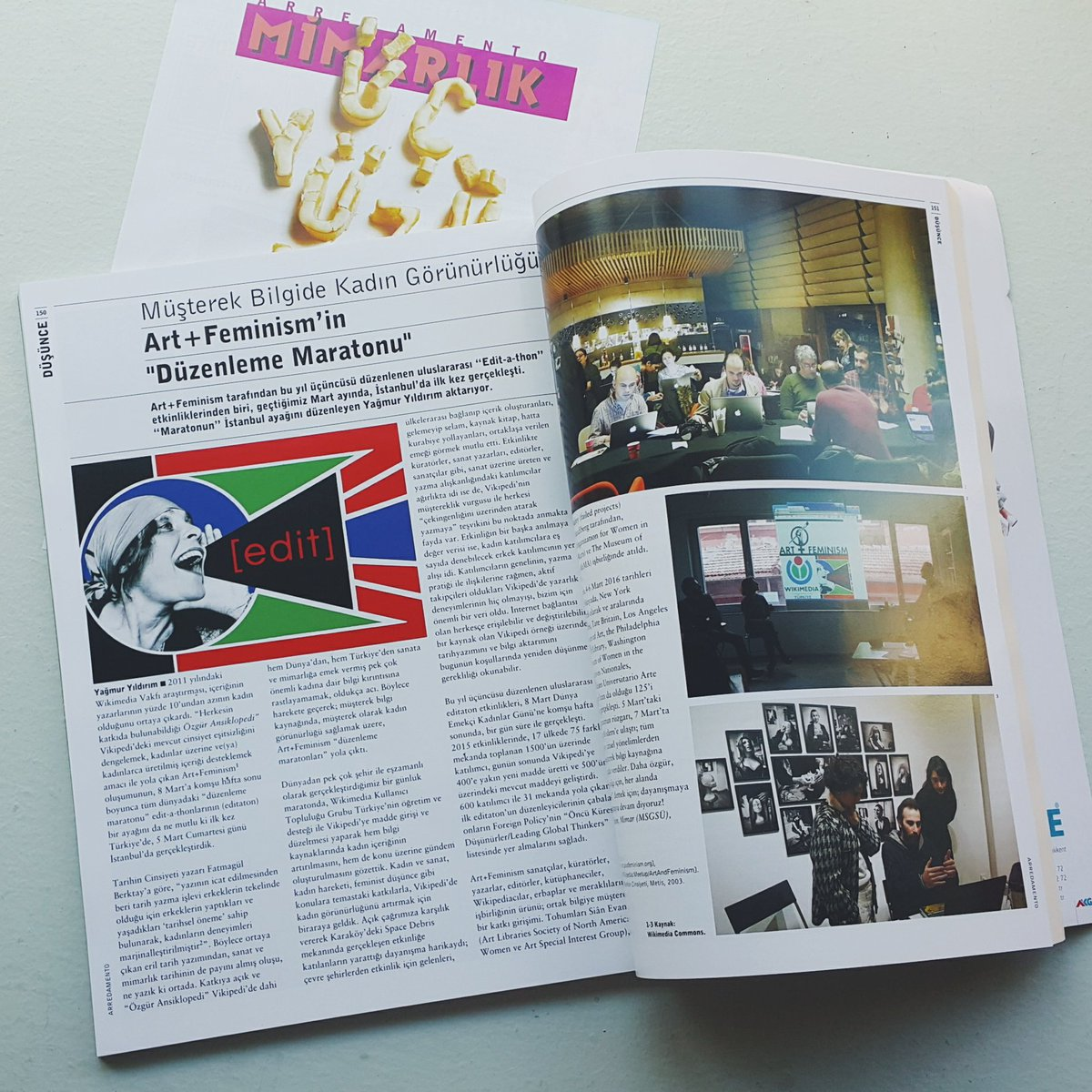 I wrote a review for Arredamento magazine on #artandfeminism edit-a-thon as the Istanbul organizer @artandfeminism