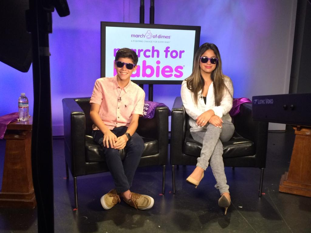 They make those shades look good! HUGE thx to @AllyBrooke & @_ismael_torres_ for spreading the #MarchforBabies love! https://t.co/219xHApDAP