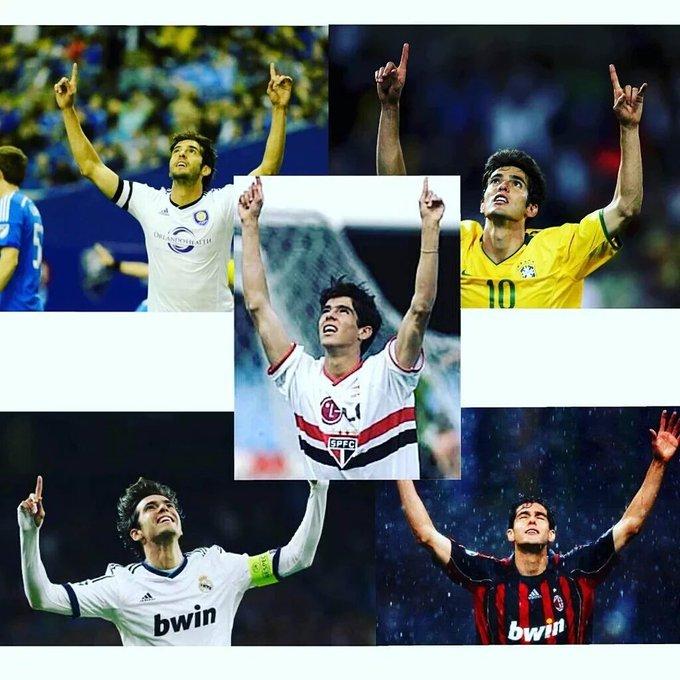 One man, One celebration, One of the greatest midfielder in history. Happy 34th birthday! Feliz aniversário, Kaká!