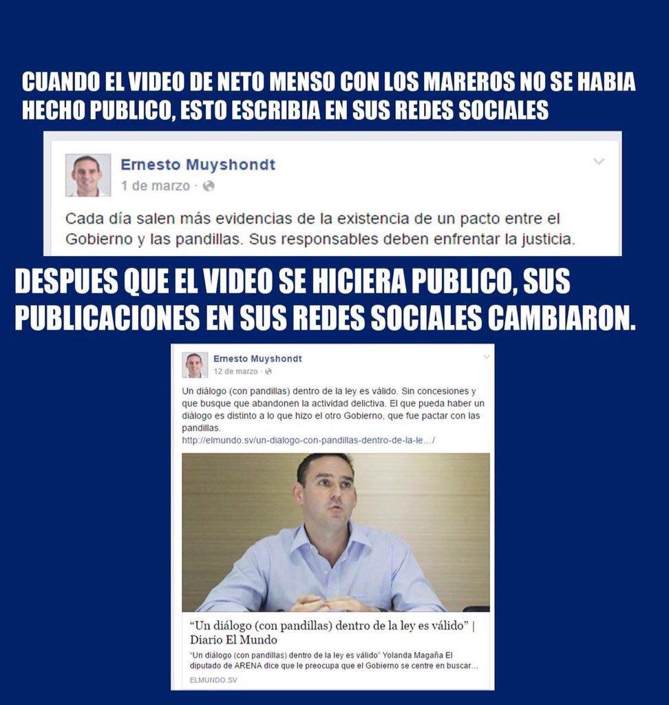 RT @waraujo64: Cambio de discurso del doble moral de @emuyshondt , líder de las pandillas en El Salvador. https://t.co/s6CUxMeGpO