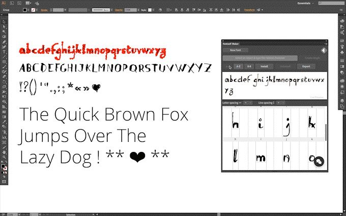 Stop what you are doing and check this out: https://t.co/90JnEWP2XZ - Create your own fonts in @Illustrator. Yup. https://t.co/N3EkcgMceb