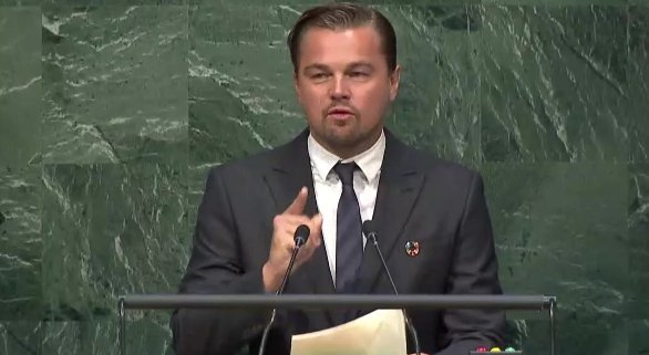 """Now is the time to hold unprecedented action. No more talk, no more excuses."""" - @LeoDiCaprio #COP21 https://t.co/jdGDgozTwQ"""