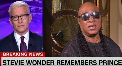 Stevie Wonder cries on TV remembering Prince: