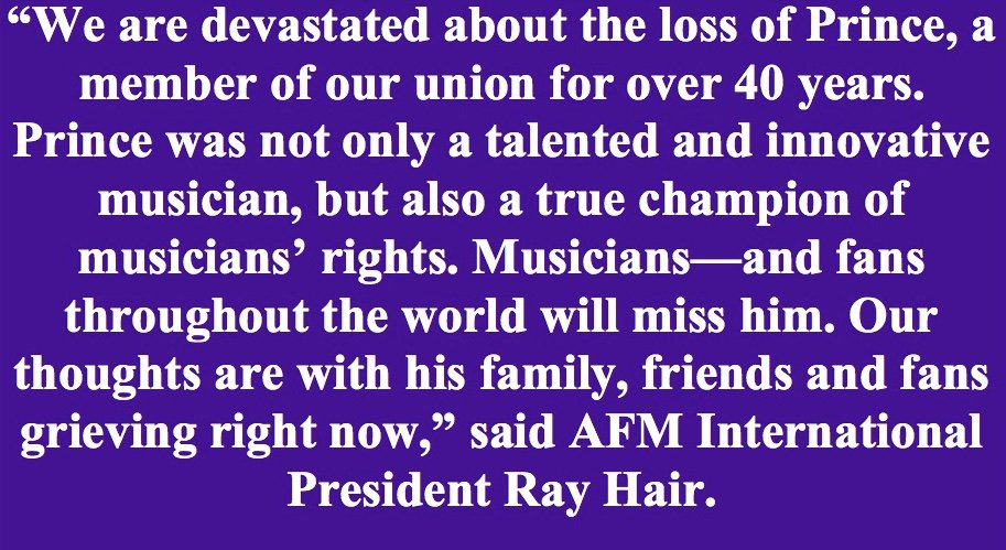 Prince was a long-term member of AFM Local 30-73, Twin Cities Musicians' Union, in St. Paul-Minneapolis https://t.co/MI78z6EVsc