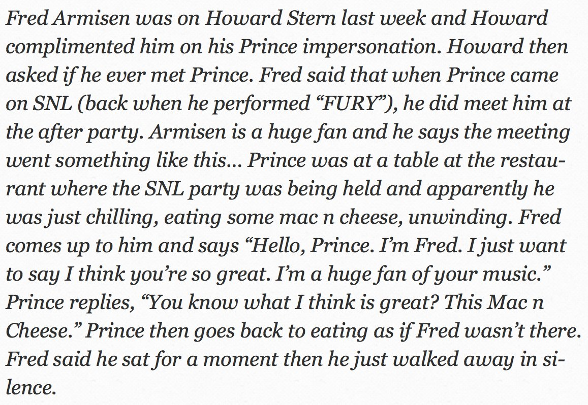 Prince totally clowning Fred Armisen is perfect. https://t.co/0lXXXty0la